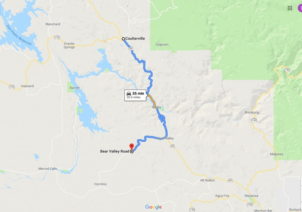 Full Closure Planned On Highway 49 From Bear Valley To Coulterville