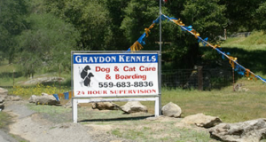 Graydon Kennels' sign