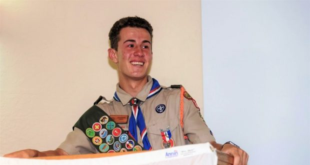 Jeremiah Stott, our newest Eagle Scout.