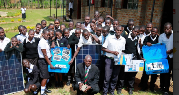 Solar suitcases in Kenya! All the way from Wasuma Elementary!