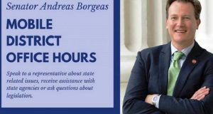 Senator Borgeas is coming to Oakhurst tomorrow