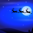 Picture of Santa flying through the air