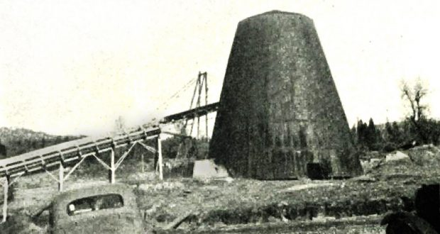Picture of a North Fork Lumber Mill teepee burner