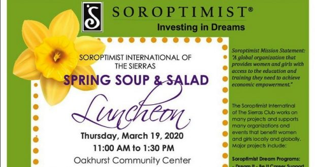 Picture of Soroptimist Club luncheon flyer