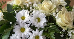 Picture of funeral flowers.