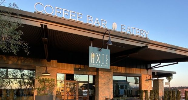 Picture of the entrance to AXIS Coffee and Eatery.