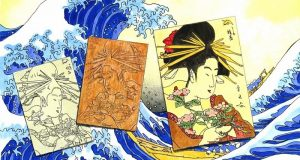 Image of a Japanese woodblock print.
