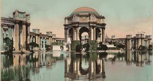 Image of the Palace of Fine Arts in San Francisco.