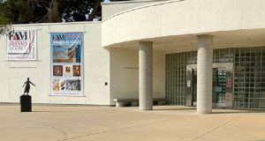 Image of the front of the Fresno Art Museum.