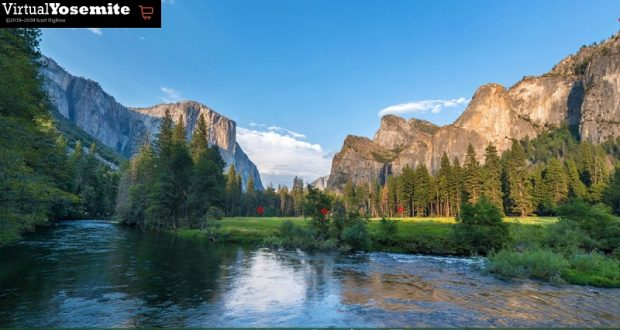 Image of Gates of the Valley, from Virtual Yosemite.