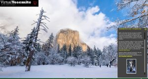 Image of El Capitan in winter.