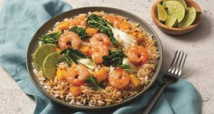Image of a shrimp and rice dish.
