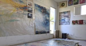 Image of Margaret Lazzari's home studio.