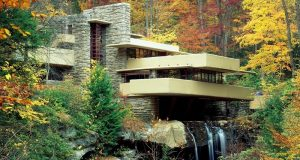 Image of Frank Lloyd Wright's Fallingwater.