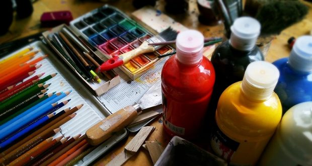 Image of art supplies.