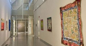 Image of the inside of the Fresno Art Museum.