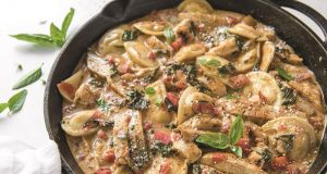 Image of Tuscan Chicken Pierogi Skillet.