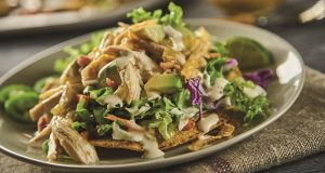 Image of chicken tostadas.