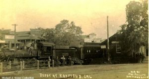 Image of the train depot at Raymond, CA.
