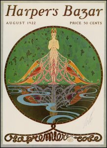 Image of a Harpers' magazine cover by Erté.