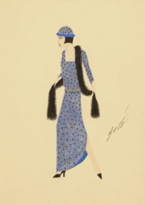 Image of an example of Erté's fashion design.