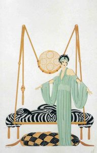 Image of a lithograph by Erté.