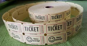 Image of a roll of raffle tickets.