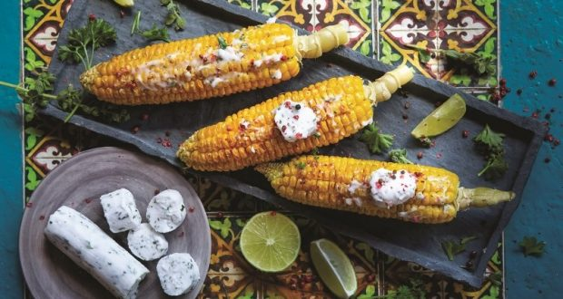 Image of grilled corn on the cob.