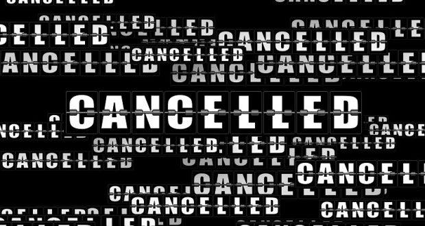 Image of a cancellation sign.
