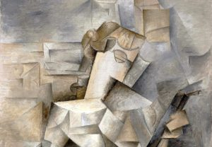 Image of Picasso's Cubist Girl With a Mandolin.