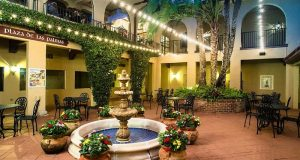 Image of Mission Inn Lobby Courtyard At Night.