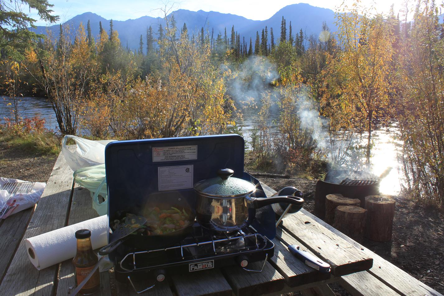 Camping in the Yukon