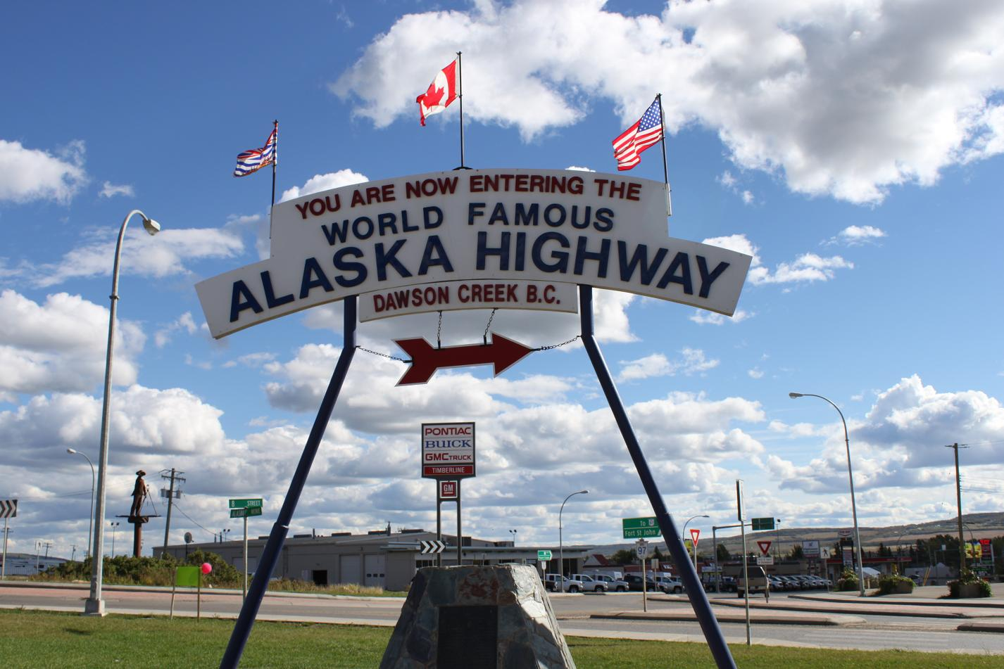 Entering the Alaska Highway