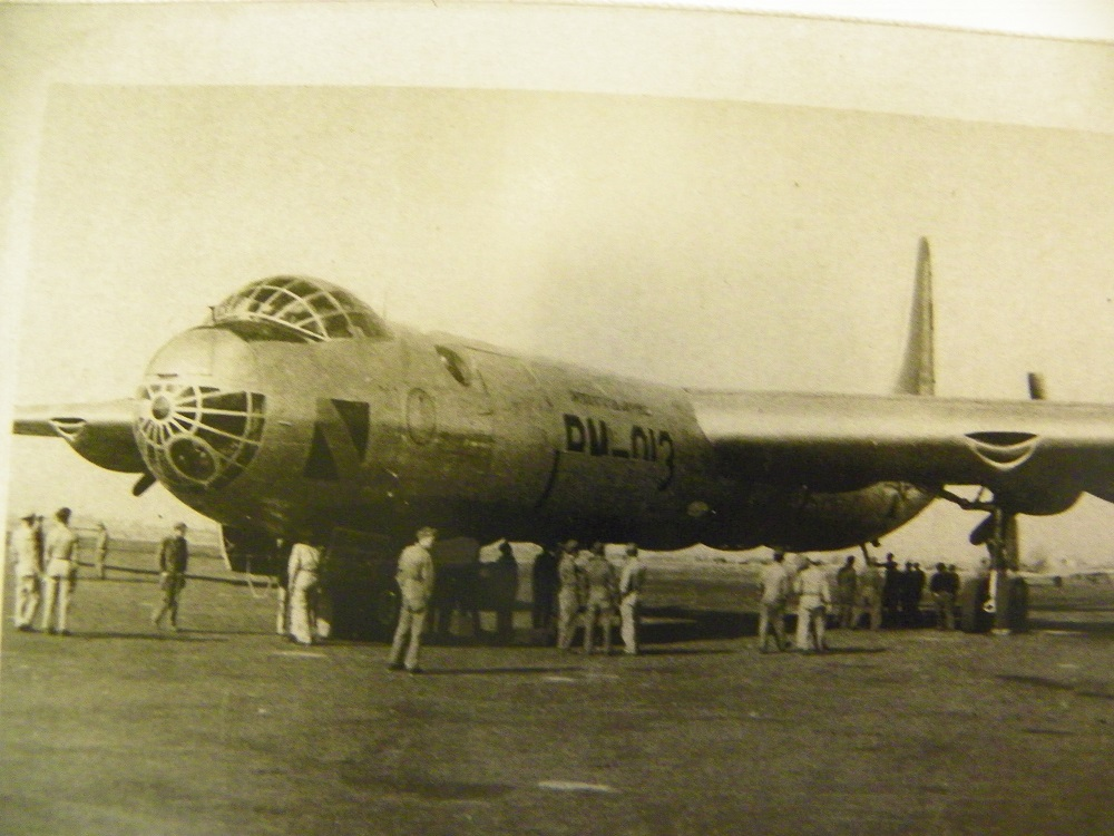 Coarsegold Miners Grill customer Chuck Epperley brought in a photo of this B-36 - in 1949 - we was stateside as an aircraft manager air logistics during the Korean War