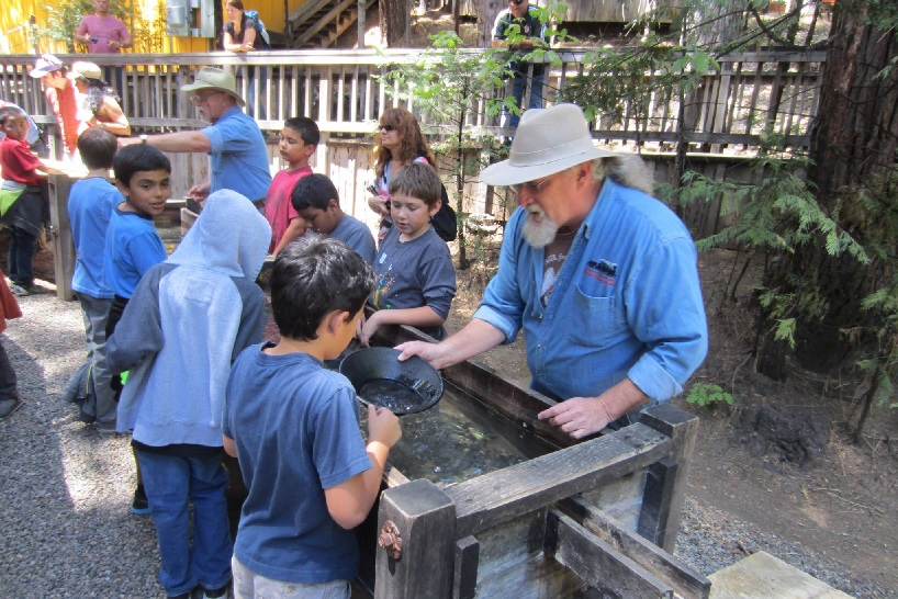 Gold panning at the Railroad
