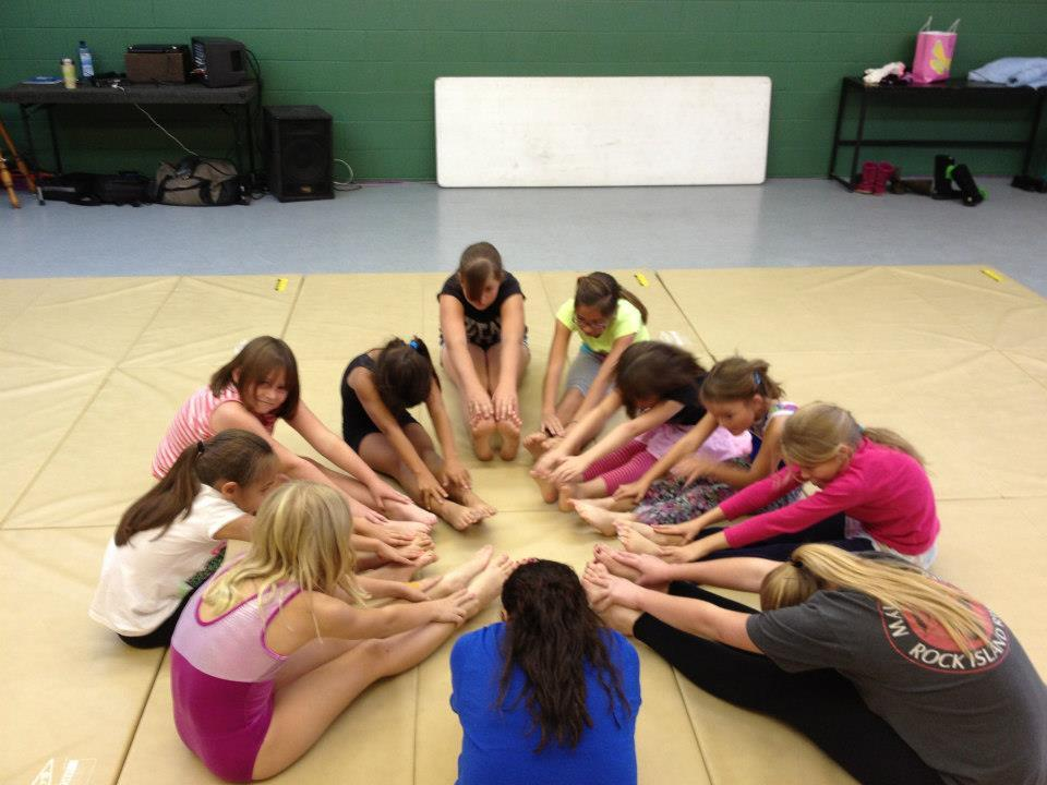 Girls in Circle - courtesy North Fork Dance Club