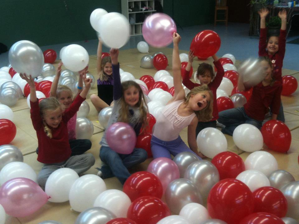 Kids with Balloons - Courtesy North Fork Dance Club