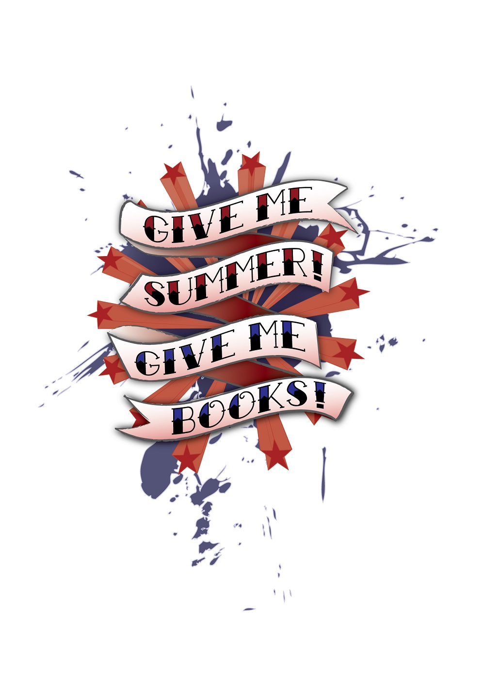 Give me summer give me books logo