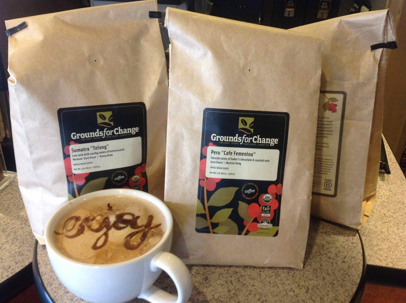 Cool Bean Grounds for Change coffee