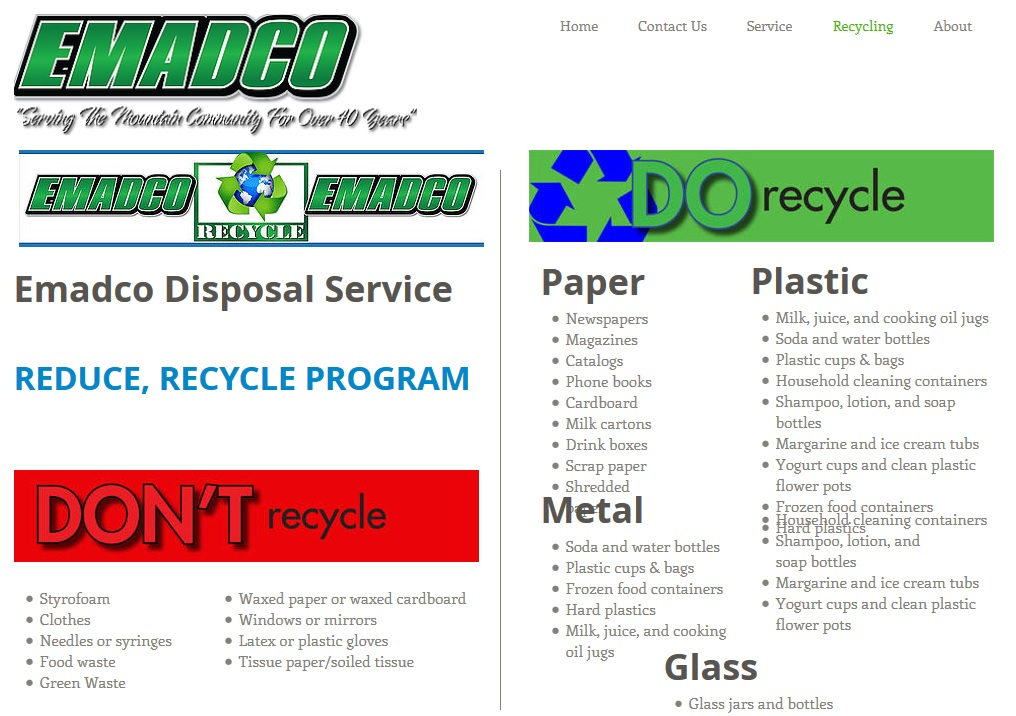 Emadco recycling poster