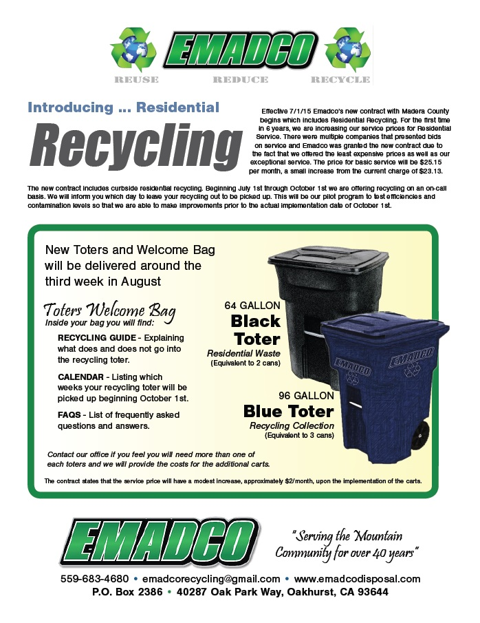 June 25 Emadco recycling poster
