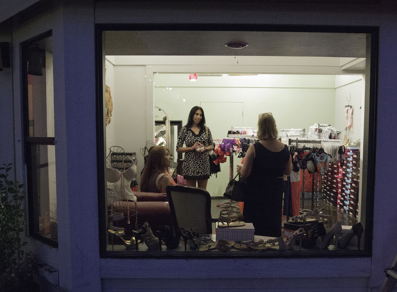 Moment Gallery - View of lingerie room outside looking in - June 29 2013 - Photo by Virginia Lazar