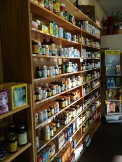 Shelves at Natures Nutrients