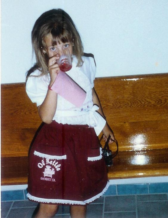 Kendra Hillyard started work early at the Ol Kettle