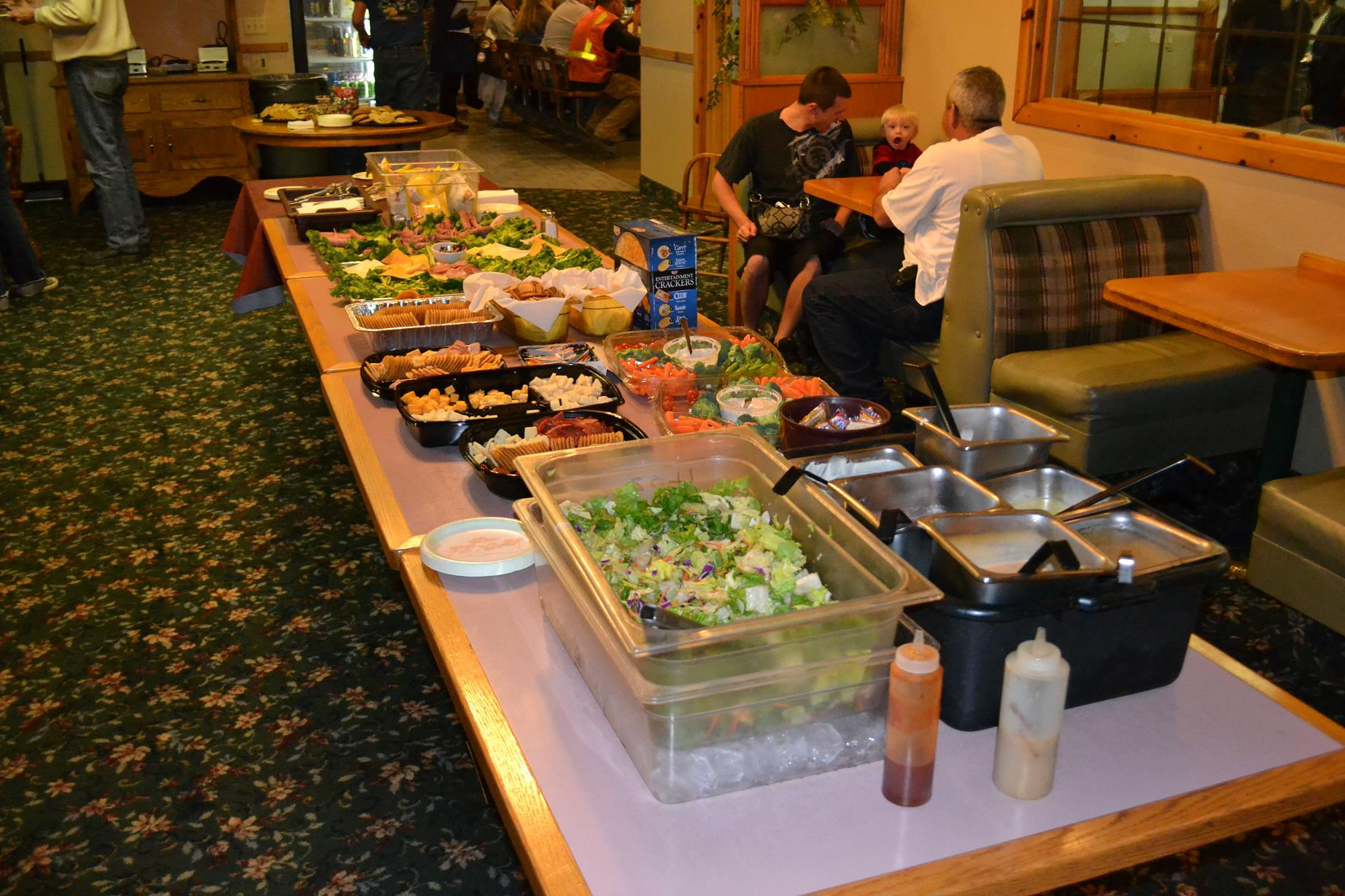 Ol Kettle lays out a spread for farewell party