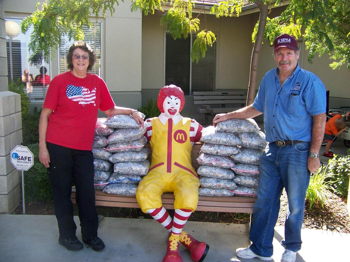 Ruth and Bob Hillyard and their donations to Ronald McDonald House