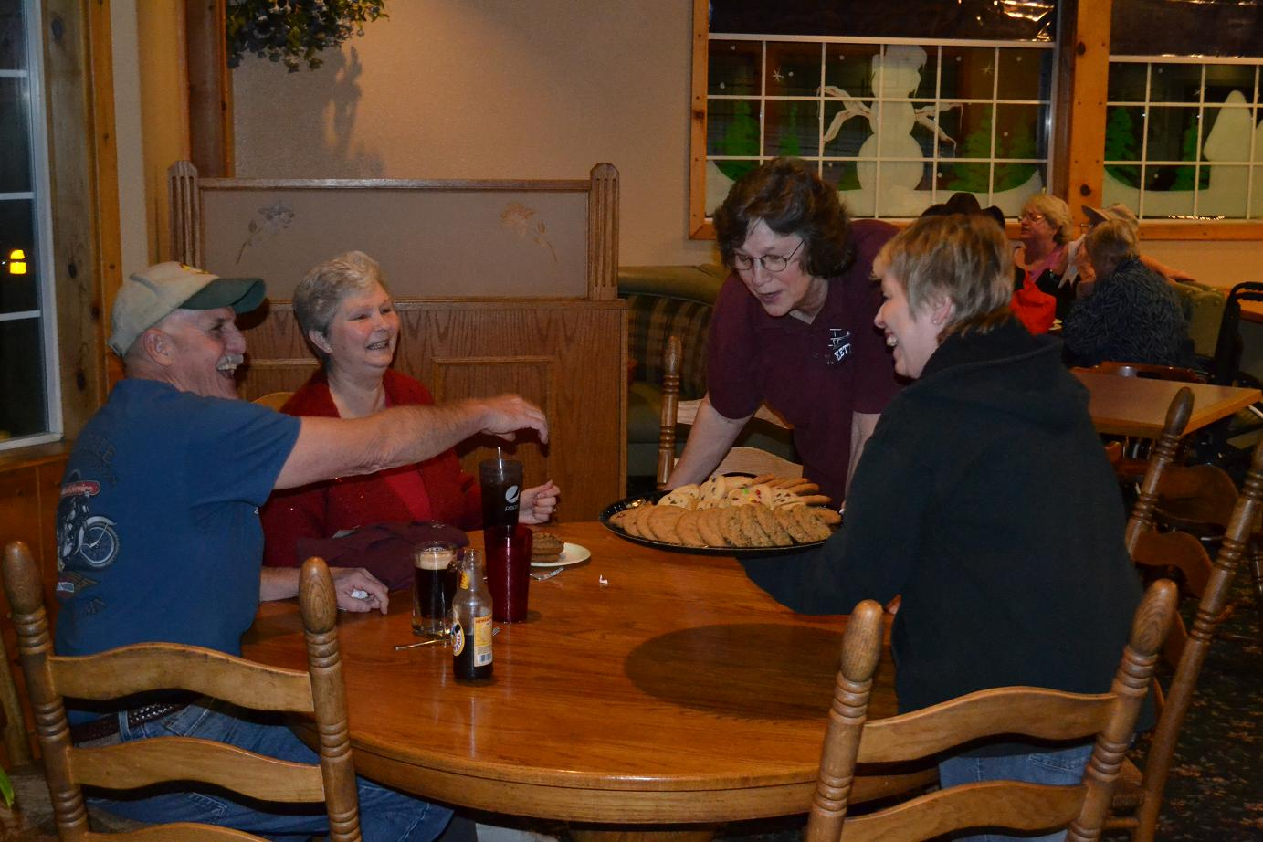 Ruth and Dee Dee serving their last customers on 1-30-13