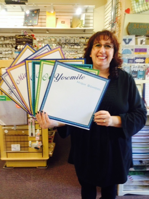 Pak & Page has scrapbook paper for all the local schools