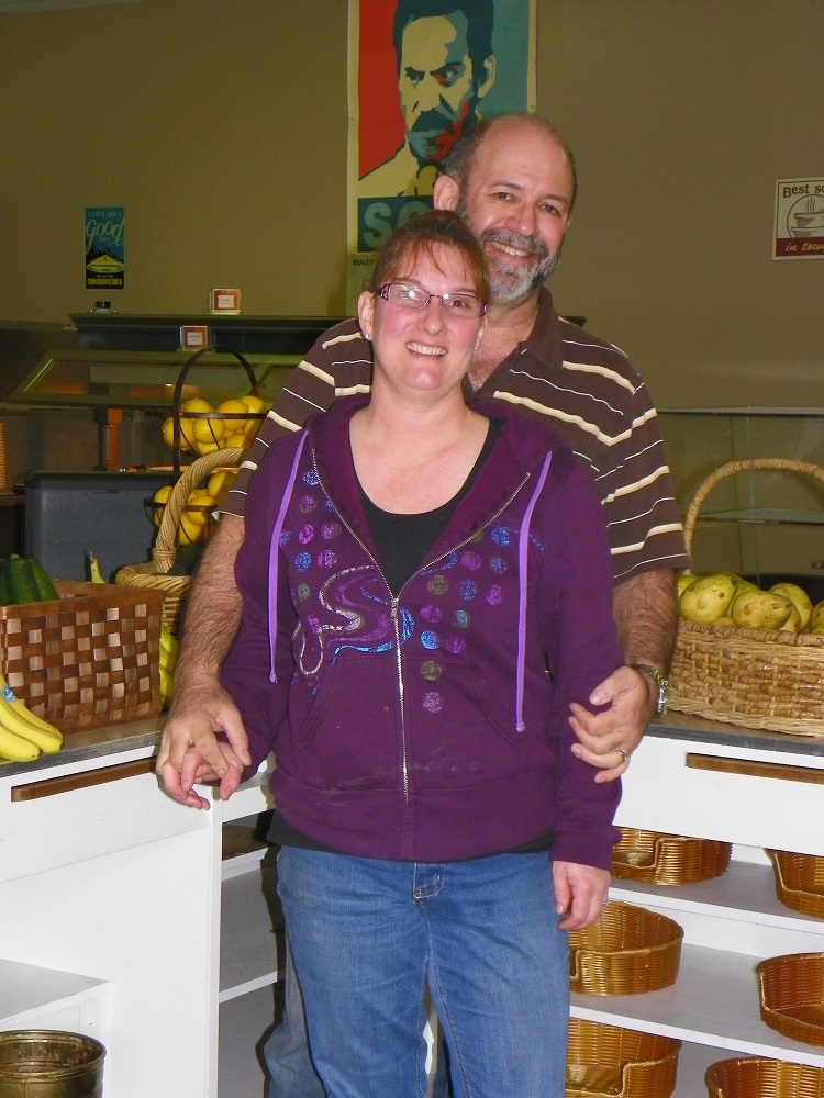 Kandie and John at the Produce Place