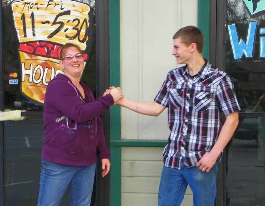 Produce Place Kandie Stier and son Blake Elsman